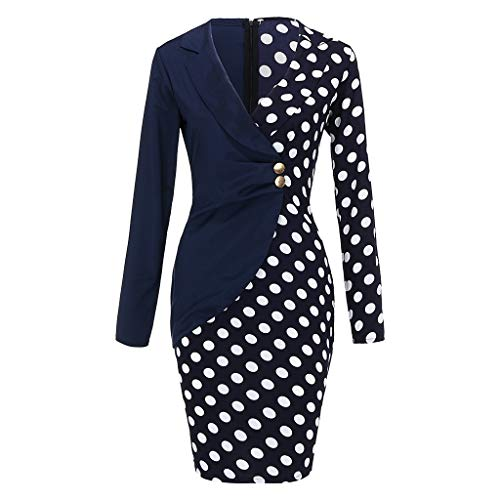 Auifor vrouwen draaien onderaan aanzet lange mouwen gestreepte patchwork-bodycon-blazer jurk