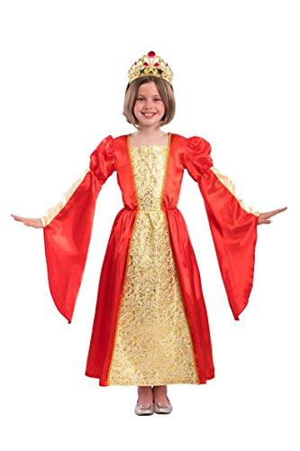 Carnival Toys – kostuum prinses voor meisjes unisex child, meerkleurig, 104-110 cm, 68138