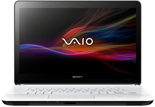 Sony VAIO SVF1421E2EW 35,5 cm (14 Zoll Touch) Laptop (Intel Pentium 987, 1.5GHz, 4GB RAM, 500GB HDD, Intel HD, DVD, Win 8) weiß