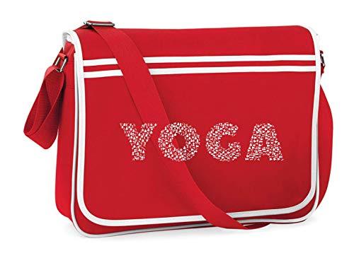 Bolsa de hombro para Yoga con tipografía de tipo de texto de Druckerlebnis24.