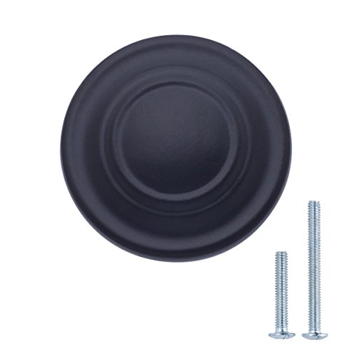 Margueras Schrankknöpfe für Küchenschränke, andere Schränke und Schubladen, 10 Stück, schwarz