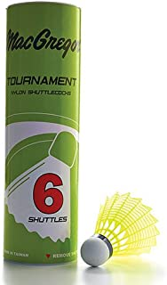 MacGregor Yellow Tournament Badminton Shuttlecock - Tube of 6