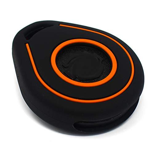 Hab Coque de clé pour clé de moto en silicone Keyless Go Noir/orange.