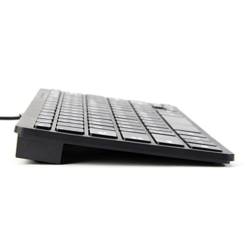 GMYLE Compact Wired USB Mini Keyboard for PC (Charcoal Black)