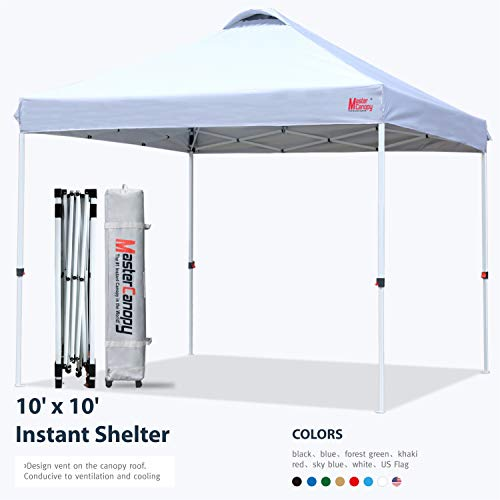 MASTERCANOPY Pop-up Canopy Tent Commercial Instant Canopy with Wheeled Bag