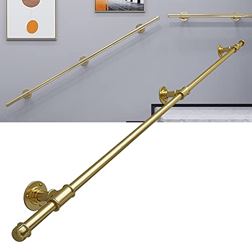 Pasamanos de escalera dorada para paredes, pasamanos moderno para escaleras, barra de soporte de seguridad para interiores y exteriores, diseño montado en la pared, soporte de seguridad 200 kg