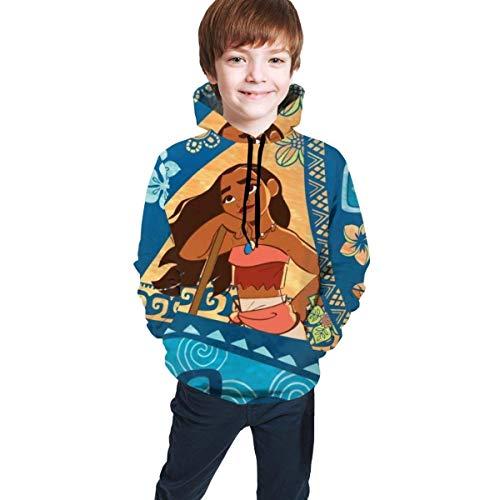 maichengxuan Moana 10 Novelty Youth Hoodie Sweatshirts Cute for Teens Black