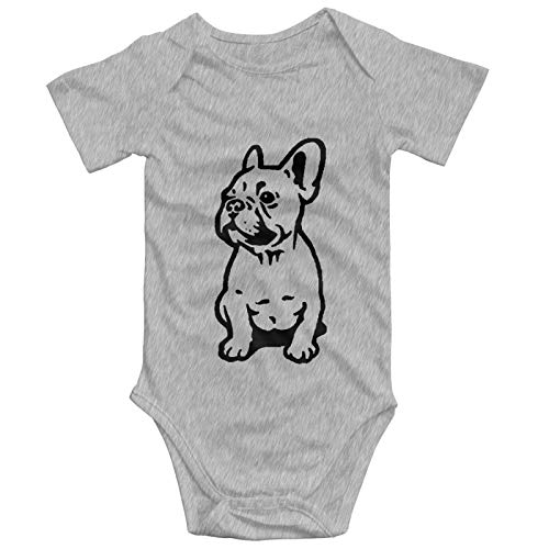 Twicool Cute French Bulldog Baby Boys Girls Onesies Funny Infant Bodysuit Romper Outfits Gray