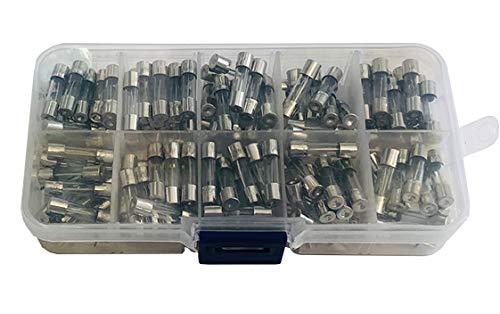 Movilideas - 200 Fusibles rápidos de Cristal de 5x20mm, fusibles de 0.5A 1A 2A 3A 4A 5A 8A 10A 15A 20A 20 de cada