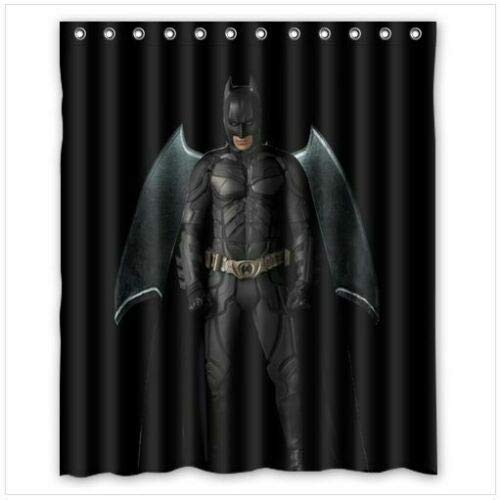 ZHANGSHUQI fantastischer Batman-Duschvorhang Badezimmer-Duschvorhang langlebiges Stoffzubehör kreativ mit 12 Haken 180X180CM
