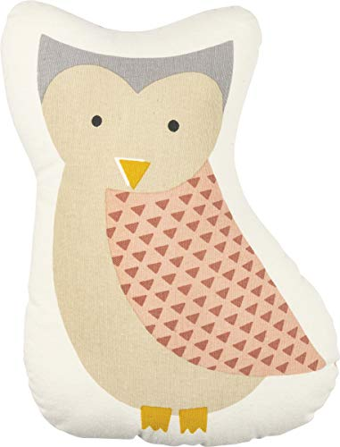 Primitives by Kathy Baby Shaped Throw Pillow, 11 x 13. 50-Inches, Pink - Owl