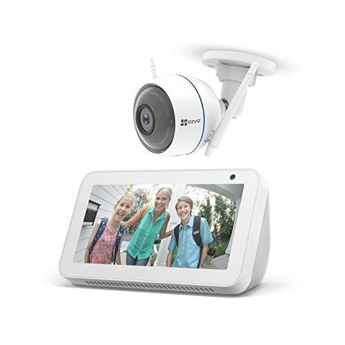Echo Show 5, blanco + EZVIZ ezTube 1080p Cámara de Seguridad, compatible con Alexa