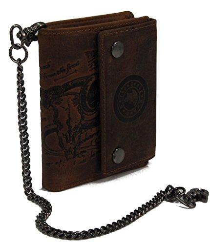 LANDLEDER Edle Herren Leder Geldbörse Portemonnaie Geldbeutel Brieftasche Messenger Serie Bull & Snake Verschiedene Modelle-präsentiert von RabamtaGO®- (M5- RFID Schutz)