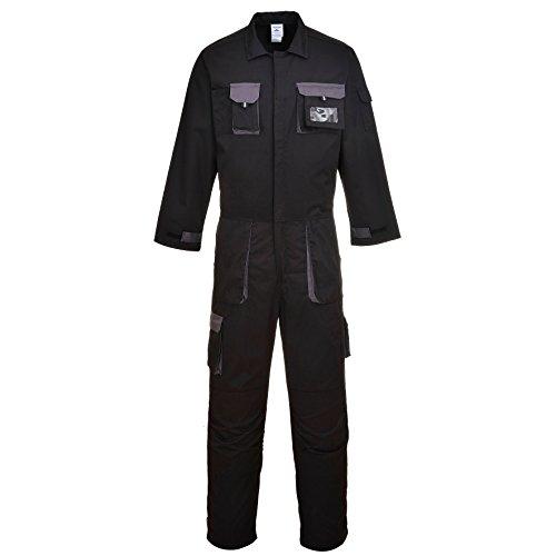 Portwest TX15BKRM Traje de Protection, Texo Contrast, M, Negro (Black)