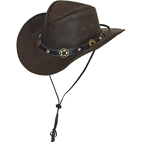 BRANDSLOCK Cappello da Cowboy Vintage Classico Elegante Occidentale Classico da Uomo