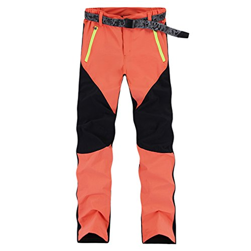 CIKRILAN Femmes Longue Outdoor Quick Dry Anti-UV Élastique Stretch Pantalon Dames Léger Respirant Sports Trousers Voyage Camping Randonnée Pantalon (Small, Orange)