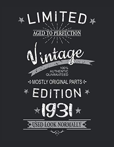 90. Geburtstag Limited 90 Jahre Edition 1931 Grafik Deko Vintage: PUZZLE BOOK - Lustiges Retro-Geburtstagsgeschenk, Geschenkidee - A4 (8. 5x11) - 101 ... Planer, Geburtstag, Vintage, Sprichwort