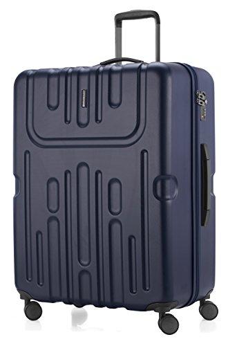 HAUPTSTADTKOFFER - Havel - Valigia da viaggio rigida e legera, grande 73 cm, Trolley ABS, TSA, 111 litri, Blu scuro