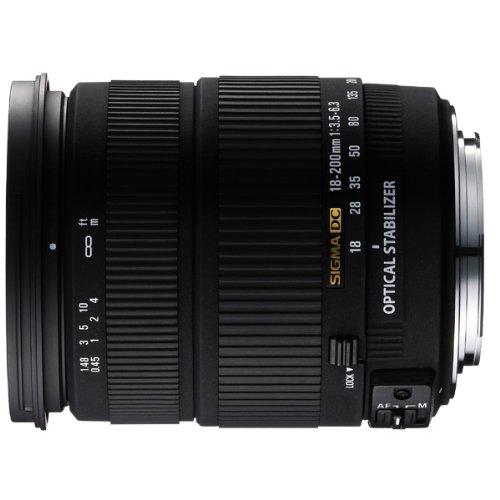 SIGMA 18-200mm 3,5-6,3 DC OS (HSM) stabilisiertes Objektiv für Sigma SLR-Kameras
