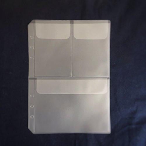 8.5インチプラスチック A5 6穴カバー ラウンドリングビューバインダー ファイルフォルダー ルーズリーフシートプロテクター/ノートブック リフィル/DIYスクラップブック/バインダーカバープロテクター,A5 Paper Holder 3 Pockets