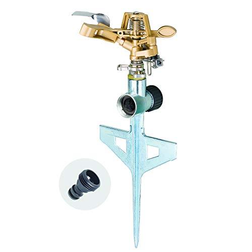 Melnor 65053-AMZ Pulsating Sprinkler QuickConnect Product Adapter Set, Amazon Bundle, XT Metal Step Spike