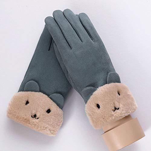 Hanggg Señoras guantes calientes invierno moda guantes hembra invierno