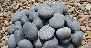 AA Plus Shop Grey Mexican Beach Stone Pebbles 100LB, 2-3