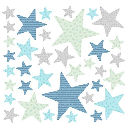 Estrellas combinación mint - Vinilos bebé