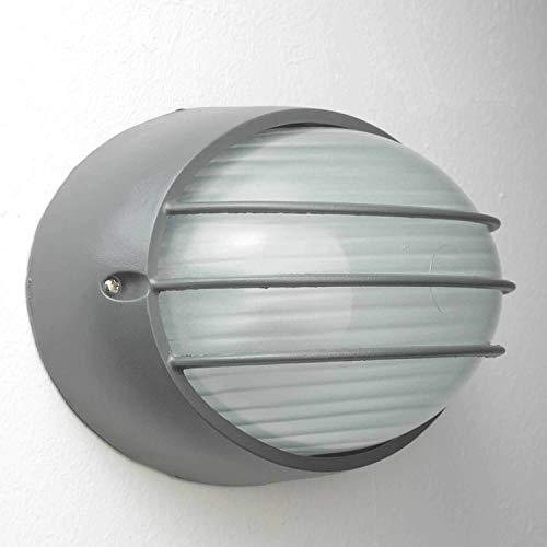 Wandlamp buiten antraciet IP44 rooster E27 B: 22cm Maritiem design buitenlicht woning binnenplaats balkon