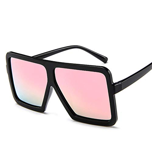 Moda Gran Cuadrado Gafas De Sol Marco De Gran Tamaño Las Mujeres De Moda Retro Plana Gafas De Sol Coloridas Sombras