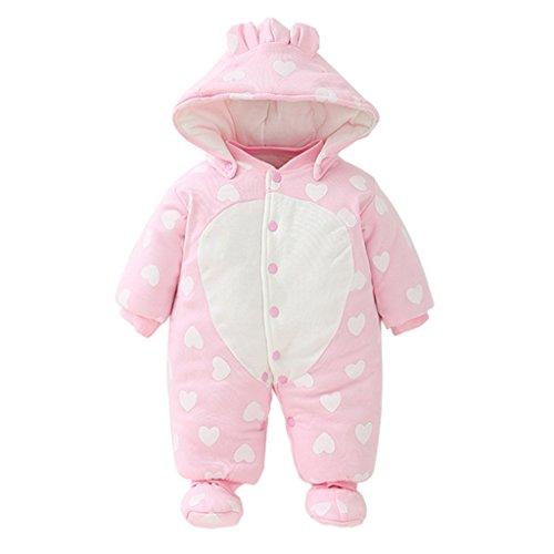 Vine Bebés de los muchachos mameluco Recién nacido Calentar Juego del cuerpo Otoño invierno Infantil Buzos Equipar, 3-6 Meses