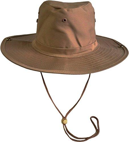 normani Australischer Buschhut/Wanderhut - Atmungsaktiv perfekt geeignet zum Campen und Wandern Farbe Coyote Größe 61