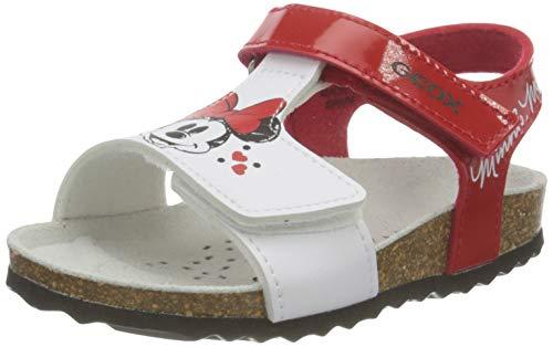 Geox B Sandal CHALKI Girl B152, Bambina, Red/White, 25 EU