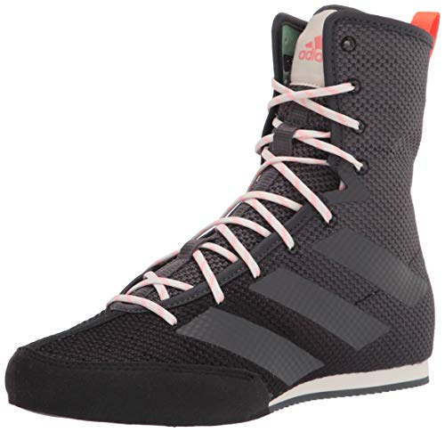 adidas Hog 3 Boxing Shoe, Black/Grey/Solar Red, 10