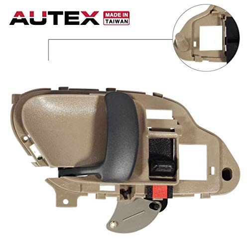 AUTEX 77570 Interior Front/Rear Left Door Handle Driver Side Compatible with C/K 1500 2500 3500 Pickup Suburban Compatible with Tahoe Yukon 1995 1996 1997 1998 1999 2000 2001 2002 GM1352152
