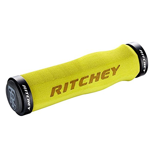 Ritchey WCS Locking Truegrip Empuñaduras de MTB, Hombre, Amarillo, Talla Única