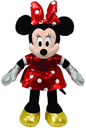 TY 90171 Topolino Minnie Red Sparkle Dress Peluche, 33 Centimetri