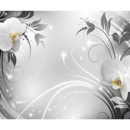 decomonkey Fototapete Abstrakt Orchidee 350x256 cm XL Tapete Wandbild Wandbild Bild Fototapeten Tapeten Wandtapete Wandtapete Blumen Ornament Modern