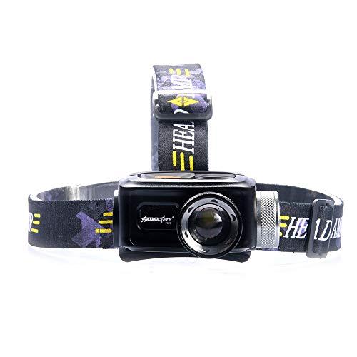 SUPERHUA Leichte Mini-Scheinwerfer Glare T6 Teleskop-Kamera-Scheinwerfer LED Außen USB-Lade Scheinwerfer Für Camping, Angeln, Laufen, Joggen, Wandern, Lesen, Arbeiten