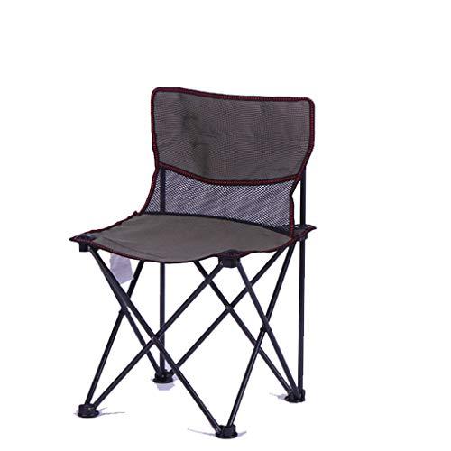 Silla plegable al aire libre Silla plegable portátil al aire libre con respaldo, silla de salón ligero para el hogar para silla de playa Barbacoa Camping Silla de bosquejo Sillón de la silla que acamp