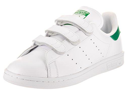 adidas Men's Stan Smith Cf FTW White/Green Ankle-High Fashion Sneaker - 12M