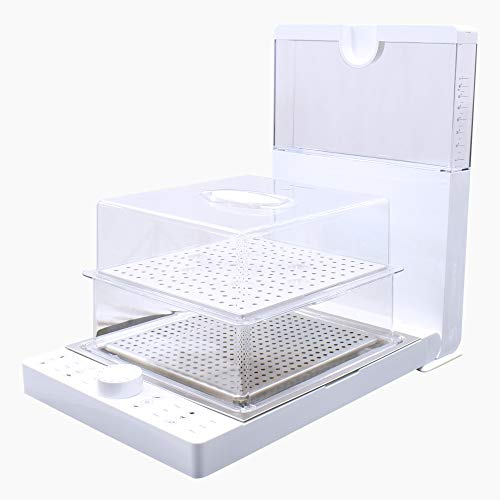 Ashley Food Steamer | 2 Tier Food Steamer, Foldable, Electric, Healthy Food Steamer for Cooking - Auto Shutoff & Anti-dry Protection, 10-Quart