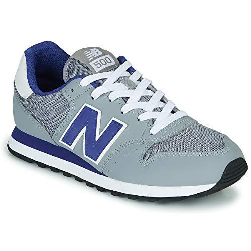 Tênis Masculino New Balance Lifestyle - GM500TRS - Cinza-Azul Cor:Cinza;Tamanho:43