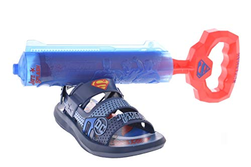 Sandália Grendene Liga Da Justiça Venture Water Meninos S: Azul/G: Azul 29