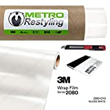 Metro Restyling 3M 2080 Gloss Car Wrap Vinyl Film W Felt Edge Squeegee Retractable Knife Blade Kit (5ft x 30ft, G10 Gloss White)