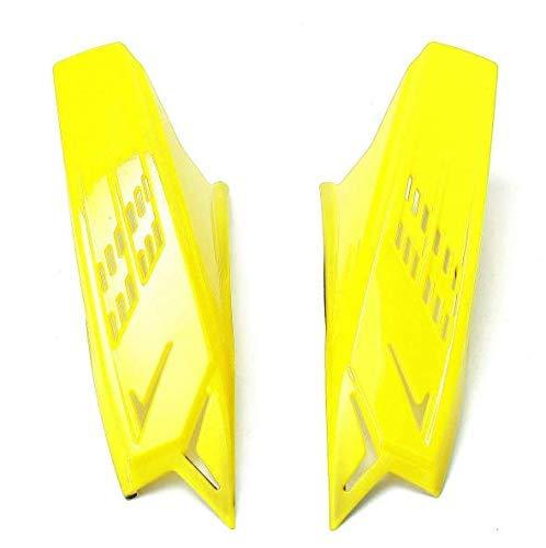 Accesorios de cuernos para cascos de motocicleta para hombres Amarillo Rojo Negro con cintas escocesas - Amarillo