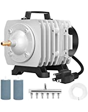 VIVOHOME 32W 950 GPH 60L/min 6 Outlets Commercial Air Pump with 2 PCS 4 x 2 Inch Airstones and 25-ft Air Tubing Combo, 3 Sets