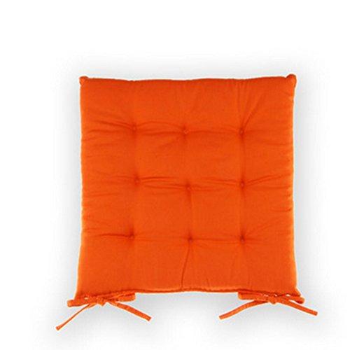 Fu Man Li Trading Company Coussins de Dentelle de Couleur Unie Tapis de Sofa Coussins à la Mode de Bureau Tapis de Pendule (Non Comprenant des chaises) A+ (Couleur : Orange)