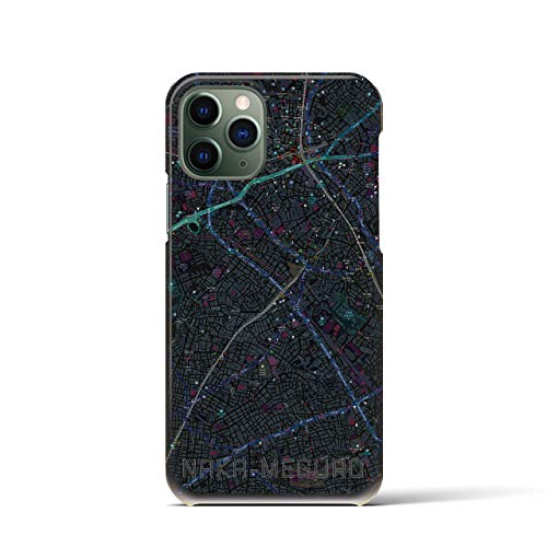 クロスフィールド(Crossfield)【中目黒】地図柄iPhoneケース(バックカバータイプ・ブラック)iPhone 11 Pro 用