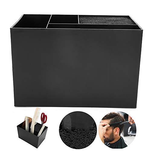 Caja de almacenamiento para herramientas de peluquería, caja de almacenamiento de accesorios para herramientas de peluquería, soporte para tijeras de peluquería profesional, organizador de herramienta